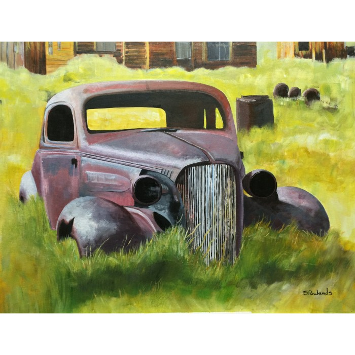 "1937 Chevy Acrylic on Canvas 30"" x 24"""