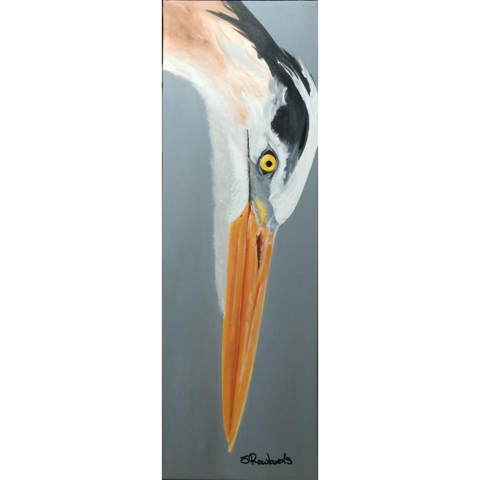 Heron on Canvas