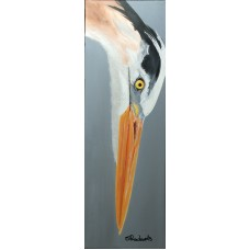 Heron on Canvas
