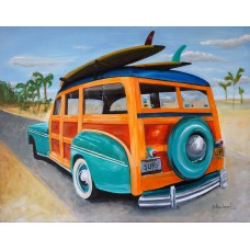 "Ford Woody Original Paint 16"" x 20"""